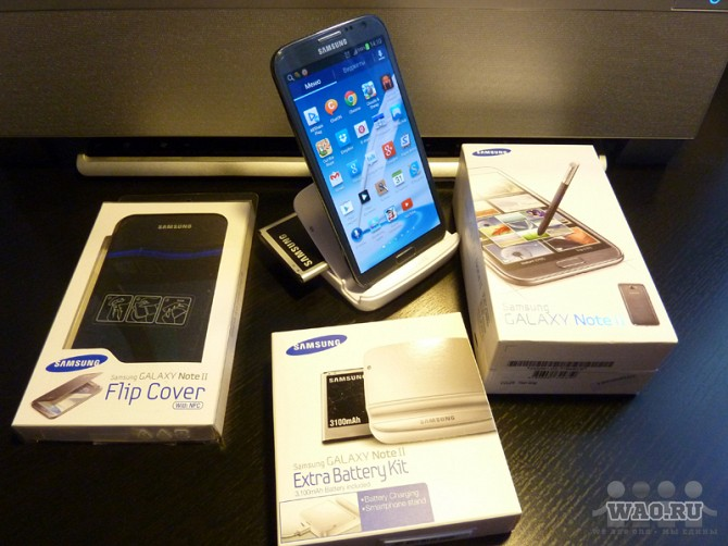 Samsung GALAXY Note II GT-N7100 Titan Gray Москва - изображение 1